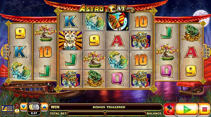 Astro Cat Deluxe Slot Machine