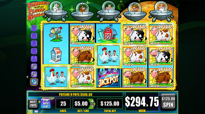 Invaders From The Planet Moolah Free Play