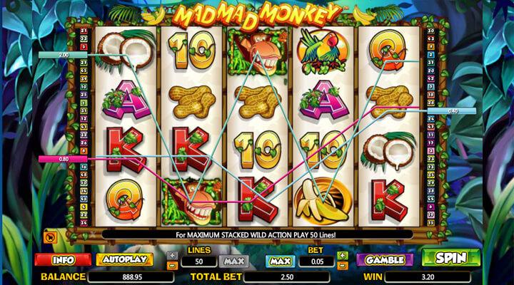 Mad Mad Monkey Slot Machine